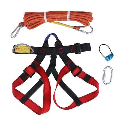 Rock Climbing / Abseiling Gear Belay device Sitting Harness Carabiner & Rope