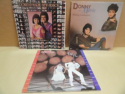 Donny & Marie Osmond 3 records Goin' Coconuts, New Season & Winning Combination
