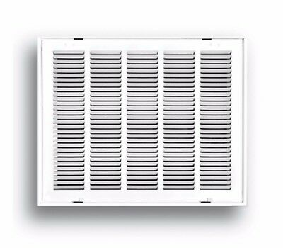 24 x 24 in White Return Air Vent Ventilation Filter Duct Wall Grille HVAC Steel
