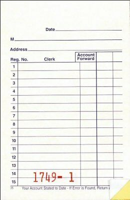 Adams General Purpose Sales Book 2-Part Carbonless White/Canary 3-11/32 x 5-5...
