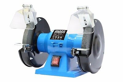 "Bench Grinder 150W 6"" 150mm Twin Grinding Stone Workshop Garage"