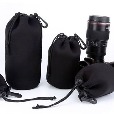 Universal S M L XL Size Waterproof Neoprene Soft Camera Lens Pouch Bag Case