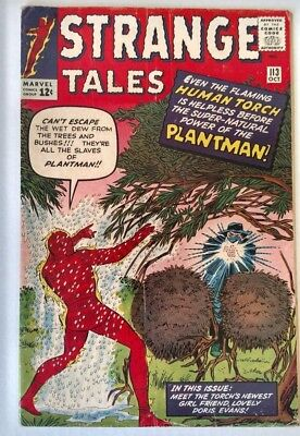 Strange Tales The Coming of the Plantman! #113 Oct. 1963 VG+ 4.5