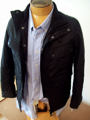 Barbour International Trail Quilted Waxed Cotton Moto Jacket  NWT Medium  $499
