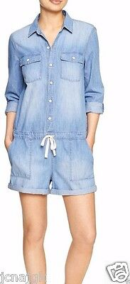 3d49cdd406d5 GAP WOMENS SHORT jumpsuit nwt 1969 linen denim romper s -  59.99 ...