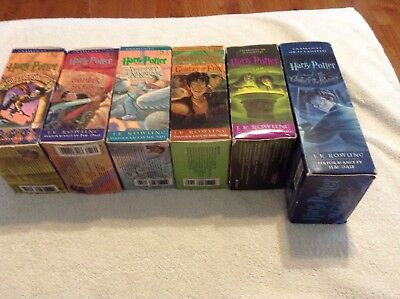 HARRY POTTER Years 1-6 Audio Book Lot Cassette Tapes J.K. Rowling