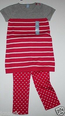 baby Gap NWT Girl's Outfit Set - Striped Sweater Tunic Top + Dot Skinny Jeans