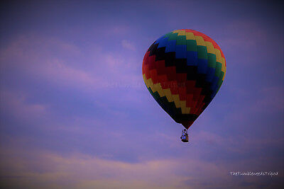 "hot air balloon photography; 8x10"" matted photo"