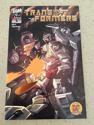 TRANSFORMERS GENERATION ONE #1 Dynamic Forces DF 1/1000 Gold Foil Variant DW HTF