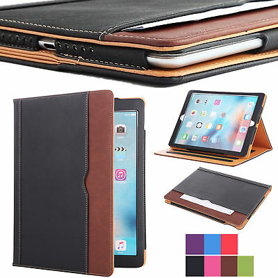 New Soft Leather Folio Wallet Smart Case Cover Sleep Wake Stand For Apple iPad