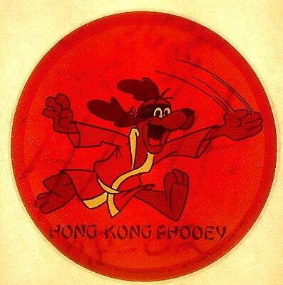 Vintage 1976 Hong Kong Phooey by Hanna Barbera Iron-On Transfer RARE!