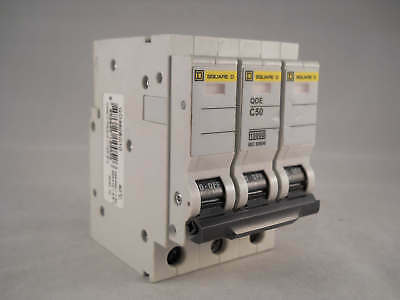 Square D QOE MCB 50 Amp Triple Pole 3 Phase Type C 50A Indicator QO350EC10 NEW