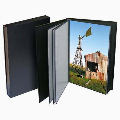 "PortoBella Self-Mount Portfolio Album Black 20 photos 12x8"" 20x30cm"