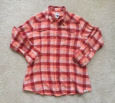 North Face Women's Flannel Pink Large Button Up Shirt