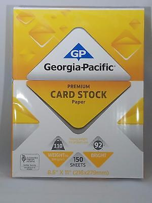 "Georgia-Pacific 150 Sheets 8.5"" x 11"" White Premium Card Stock Paper 110 lb"
