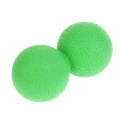 Double Lacrosse Ball Myofascial Trigger Point Stress Release Massager Green