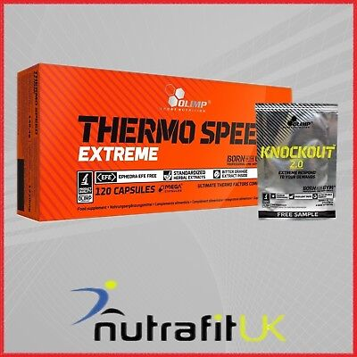 Olimp Thermo Speed Extreme 120 Mega Caps + Knockout 2.0 Pre-Workout Sample