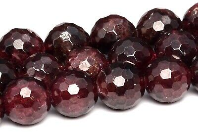 """8MM Natural Garnet Grade A+ Micro Faceted Round Loose Beads 15"""""""