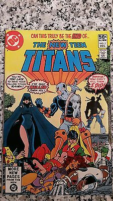 The New Teen Titans #2 (1980 DC) high grade 1st appearance Deathstroke - key