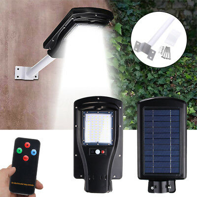 60 LED Waterproof Solar Sensor Motion Activated Wall Street Light Outdoor Lamp