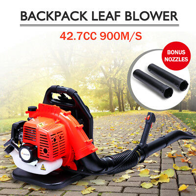 42.7cc Petrol Backpack Leaf Blower Air Sweep Garden Grass Commercial 2-Stroke