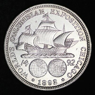 UNCIRCULATED 1892 Columbian Exposition Silver Half Dollar FREE SHIPPING!