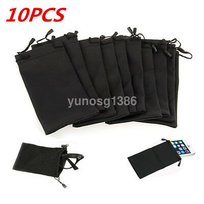 10Pcs/Bag Sunglasses Soft Cloth Dust Cleaning Optical Glasses Carry Bag Portable