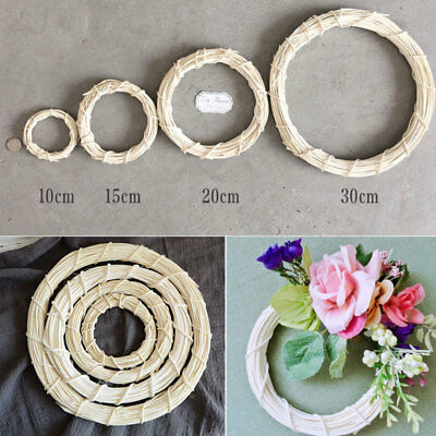Deep Round Wild Willow Wicker Hanging Wreath Home Wedding Easter Christmas