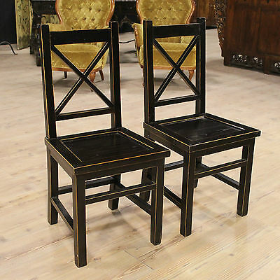 BELLA COUPLE CHAIRS MODERN WOOD PAINT PAINTED REPRODUCTION modern H 95 cm