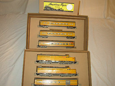 American Flyer Set Box  & Inserts Only For 2 Engines & Passenger Cars(No Trains)