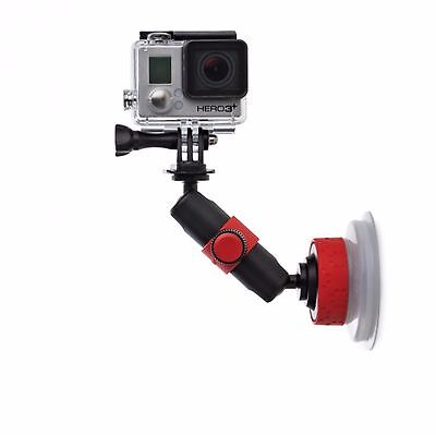 Joby Suction Cup & Locking Arm For GoPro Action Video Cameras (Red/Black)
