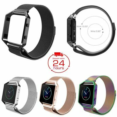 For Fitbit Blaze Smart Watch Replacement Milanese Loop Strap Wrist Band &Frame A