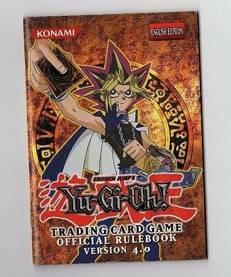 """Yu-Gi-Oh! """"Official Rulebook"""" English Edition, Version 4.0, MINT CONDITION"""