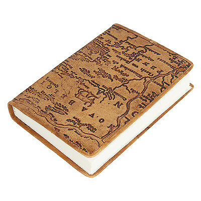 Leather Journal handmade Antique Looking Travel Notebook Gift Artis Mapped Brown