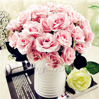 Beauty Fake Rose Bouquet de fleurs en soie artificielle Home Floral Party Decor