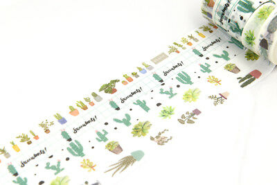 Nature succulent plants Green washi tape Cactus Bonsai