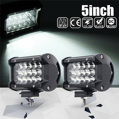 2x 168W 5Inch LED Car Work Light Bar Spot Beam SUV Boat Driving Offroad ATV Lamp