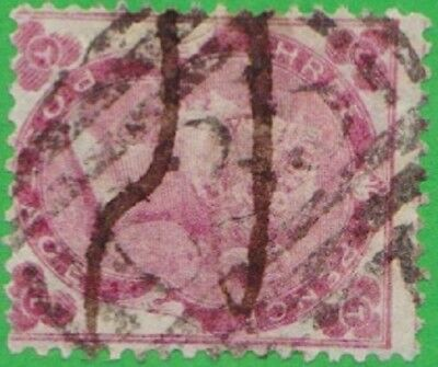 GB Used Abroad in PANAMA Colombia C35 1862 3d.rose. Scarce stamp!