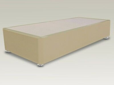 Lunar Single 3ft Faux Leather Divan Base and matching headboard & storage option
