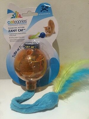 R2Pet Categories Electronic Zany Cat Toy, Flashing Lights Ball Rolls & Turns