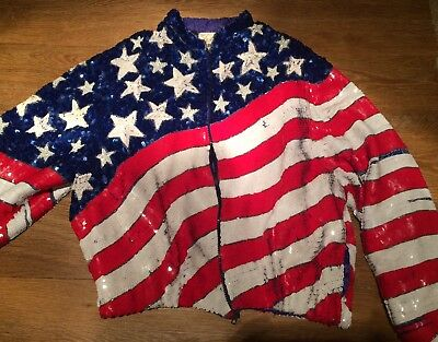 USA Stars And Stripes Sequinned Jacket
