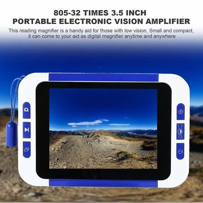 Low Vision 32X 3.5 inch Pocket Portable Digital Video Magnifier Reading Aid E@