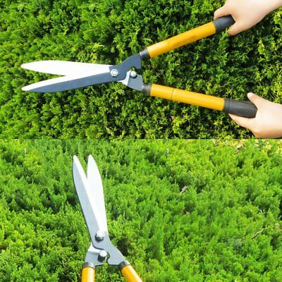 Hedge Shears Clippers Telescopic Handle for Trimming Shaping Hedges Shrubs  E@