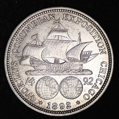 UNCIRCULATED 1892 Columbian Exposition Silver Half Dollar FREE SHIPPING