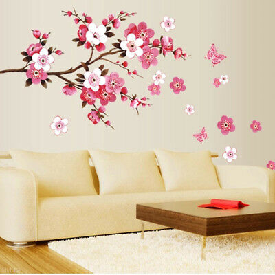 PVC Mural amovible Blossom Fleur de Pêches Art Sticker autocollant Maison Decor