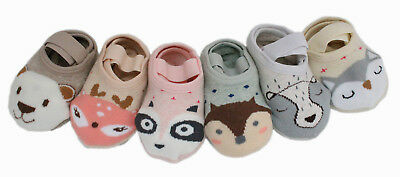 Baby Kid Boys Girls 6 Pairs Cotton Rich Grip Anklet Socks Age 0 1 2 3 4 Gift Set
