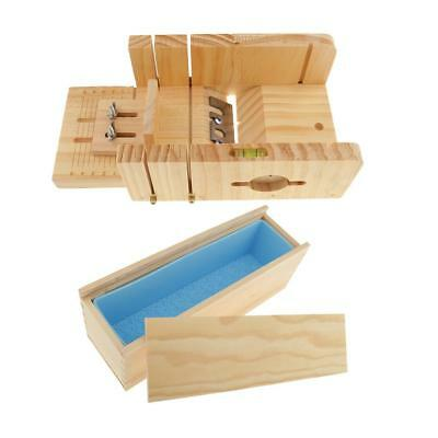 Multifunction Adjustable Wood Loaf Cutting Box and Silicone Mold for Soaps