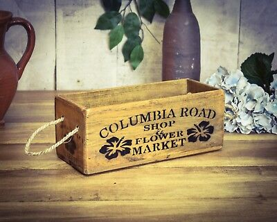 Vintage antiqued wooden box, crate, trug, SMALL BOX, Columbia Road