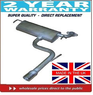 TOYOTA CELICA 1.8VVTi  1999-2006    REAR BACK EXHAUST BOX SILENCER (CHROME ENDS)
