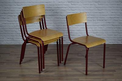 Vintage Industrial Stacking Stackable Dining Restaurant Cafe Bar Chairs